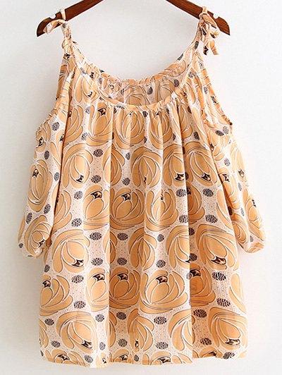 Cami Floral Print Cut Out Blouse
