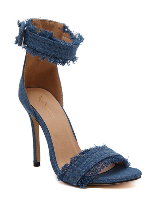 Denim Design Sandals For Women