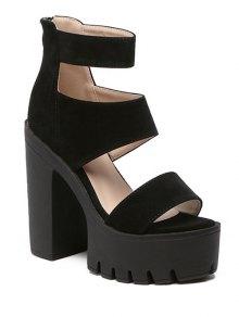 Buy Suede Platform Chunky Heel Sandals
