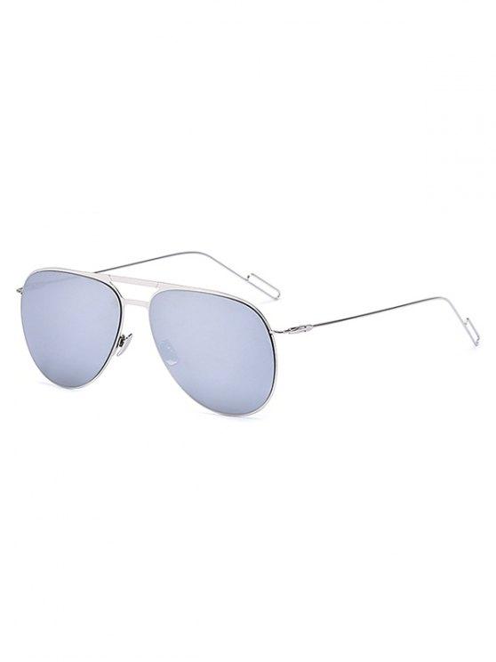 lady Silver Mirrored Pilot Sunglasses - SILVER