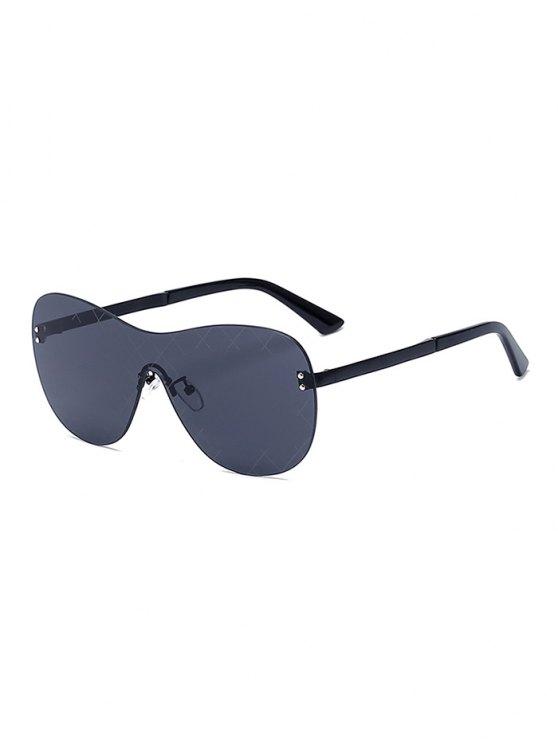 Plaid malla negra gafas de sol Shield - Negro