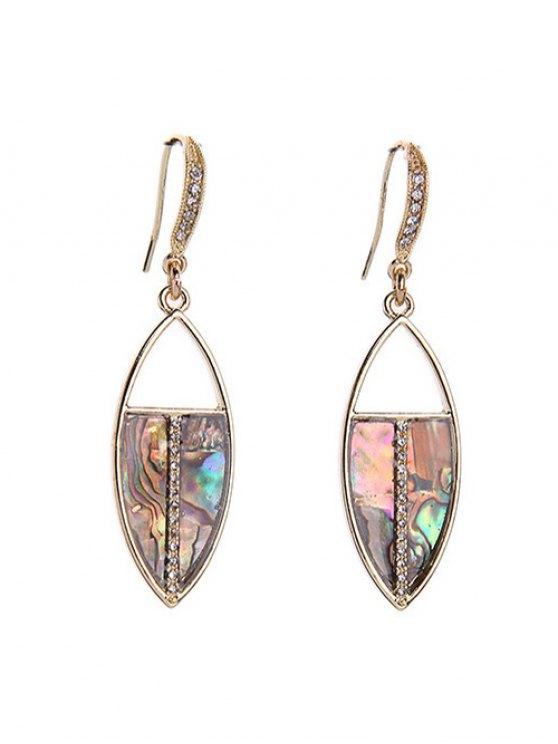 chic Rhinestone Drop Earrings - COLORMIX