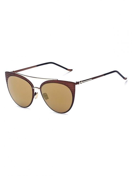 De la tela escocesa con espejo gafas de sol del ojo de gato - Déspota Oro