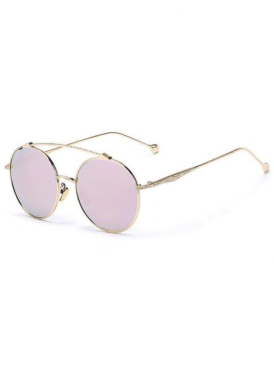 new Brow-Bar Golden Round Sunglasses - PINK