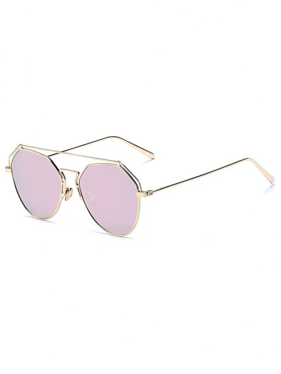Or Brow Bar-Pilot Sunglasses Mirrored - ROSE PÂLE