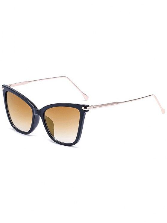 Gafas de sol negro de la mariposa con encanto - Marrón Claro
