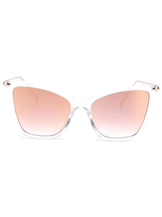 Transparent Mirrored Butterfly Sunglasses - LIGHT PINK  Mobile