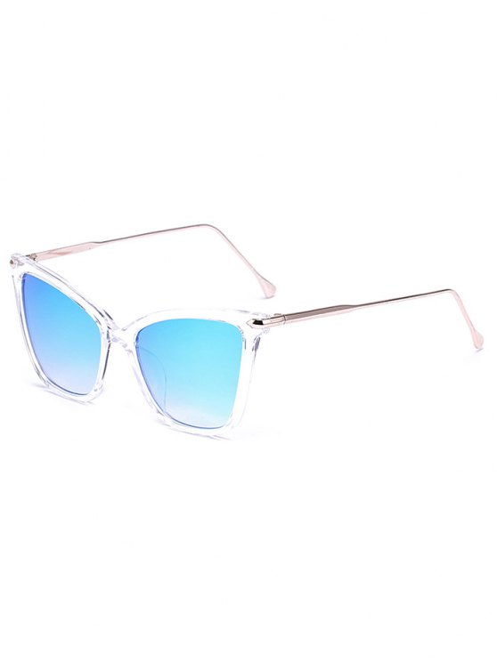 fashion Transparent Mirrored Butterfly Sunglasses - ICE BLUE