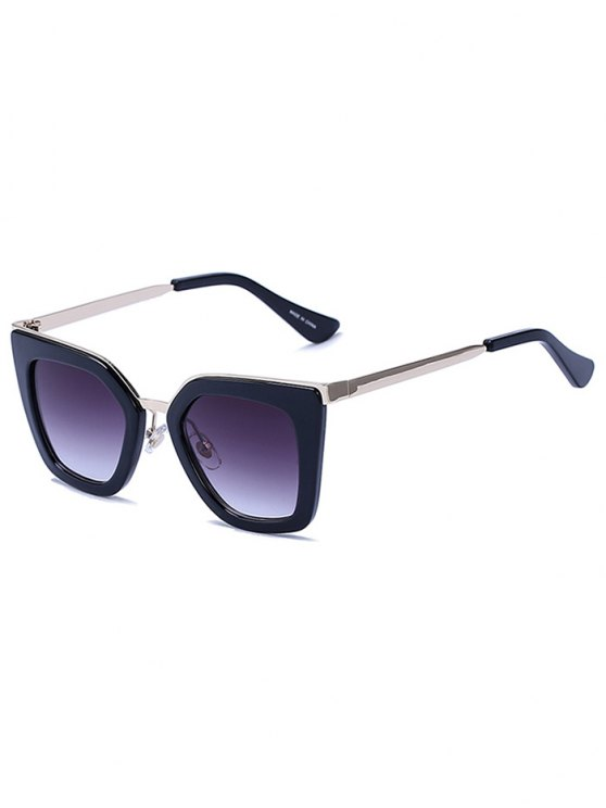 unique Matte Black Irregular Sunglasses - BLACK