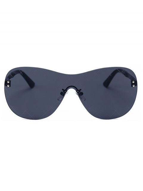 new Plaid Mesh Black Shield Sunglasses - BLACK  Mobile