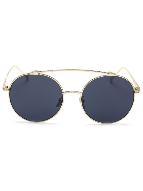 online Brow-Bar Golden Round Sunglasses - BLACK  Mobile