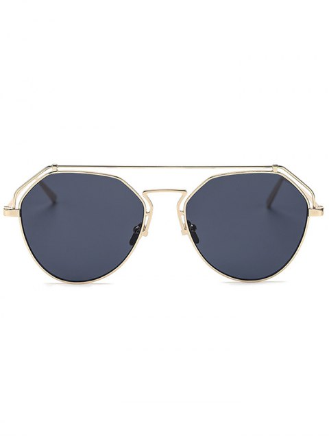 outfits Golden Brow-Bar Mirrored Pilot Sunglasses - BLACK  Mobile