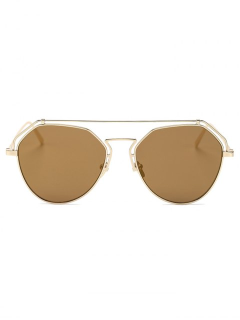 shops Golden Brow-Bar Mirrored Pilot Sunglasses - TYRANT GOLD  Mobile