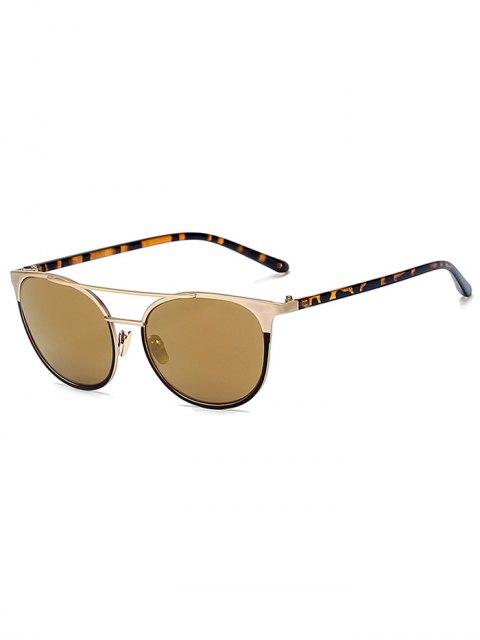 unique Leopard Leg Crossbar Cat Eye Sunglasses - GOLDEN  Mobile