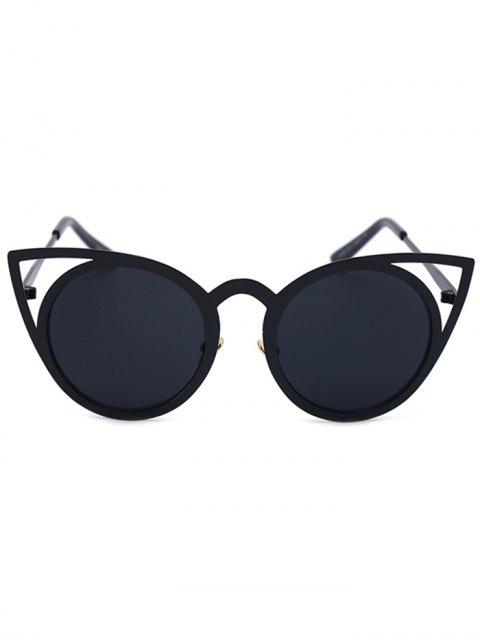 buy Cut Out Black Charming Cat Eye Sunglasses - BLACK  Mobile