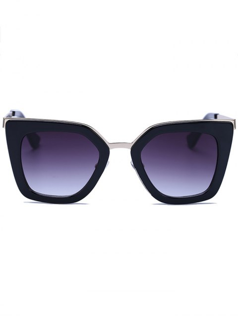 unique Matte Black Irregular Sunglasses - BLACK  Mobile