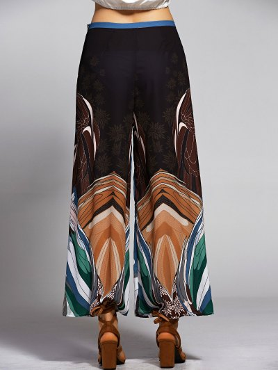 Print High Waisted Wide Leg Pants от Zaful.com INT
