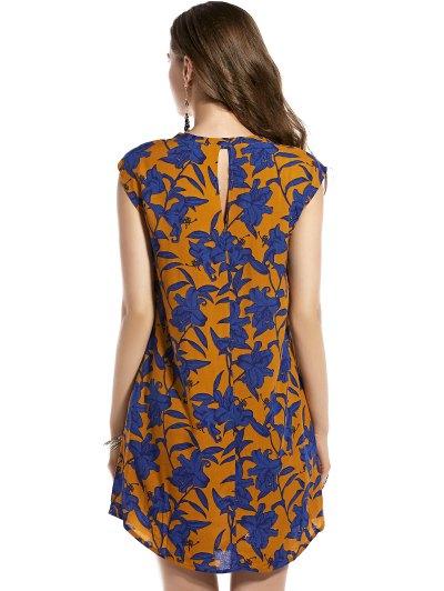 Retro Floral Print Round Neck Sleeveless Dress от Zaful.com INT