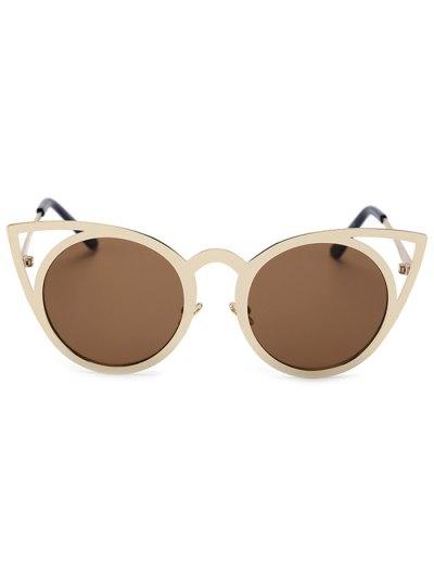 Cut Out Golden Cat Eye Sunglasses от Zaful.com INT