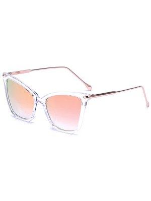 Transparent Mirrored Butterfly Sunglasses - Light Pink