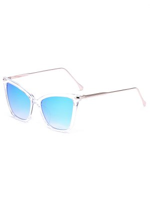 Transparent Mirrored Butterfly Sunglasses - Ice Blue