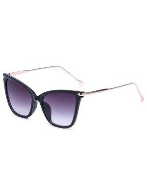 Charming Black Butterfly Sunglasses - Deep Purple