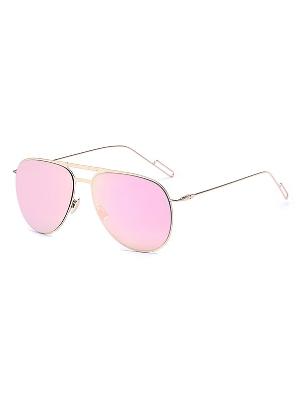 Golden Mirrored Pilot Sunglasses For Women