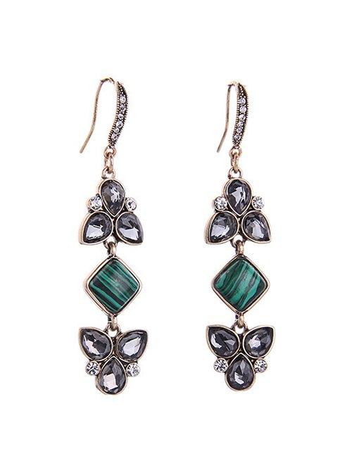 Stone Faux Crystal Earrings