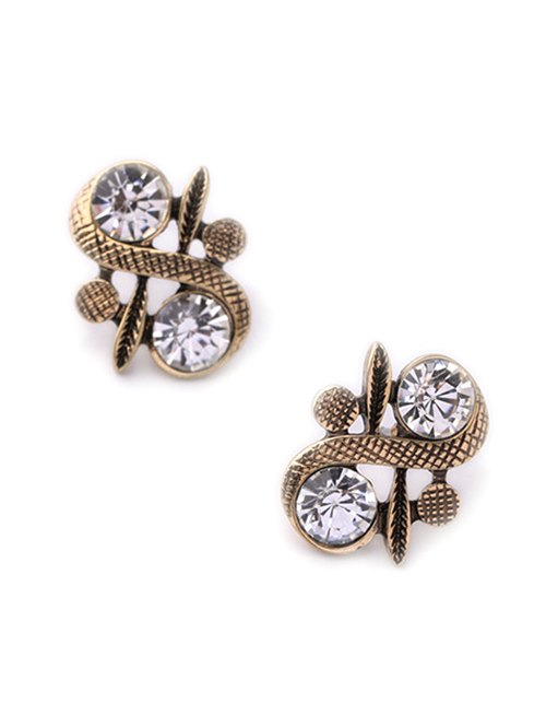 Rhinestone S Shape Stud Earrings