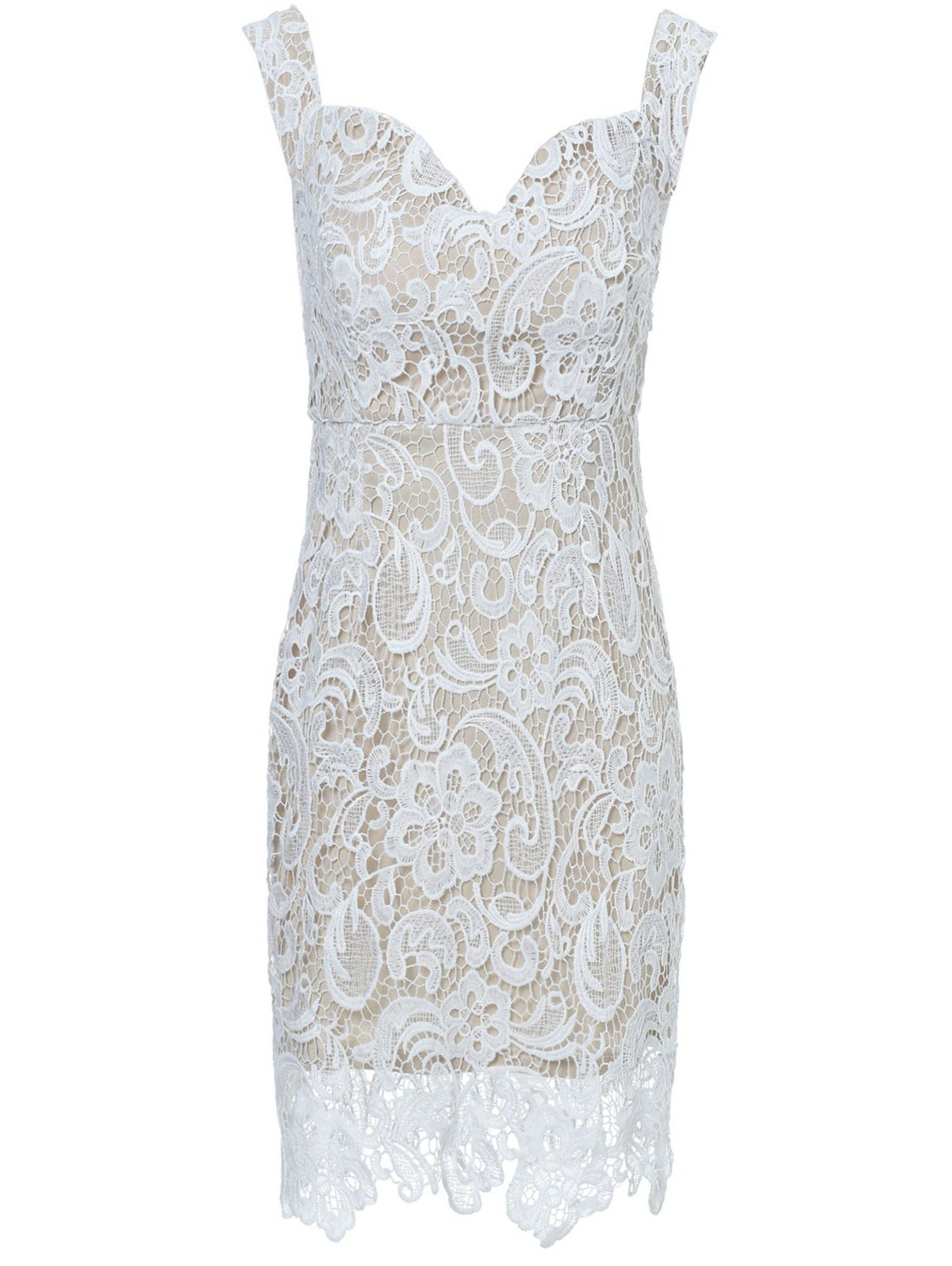 Off The Shoulder Lace Spliced Midi Dress