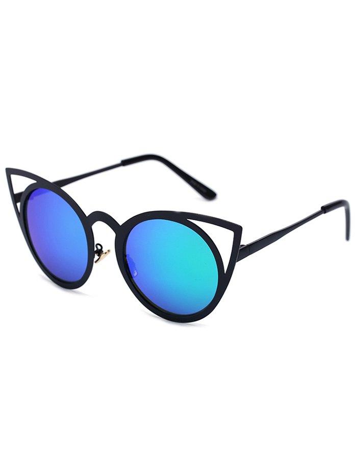 Black Charming Cat Eye Mirrored Sunglasses