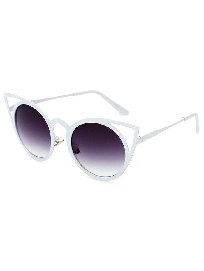 Cut Out White Cat Eye Sunglasses