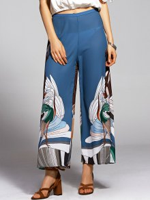 Print High Waisted Wide Leg Pants