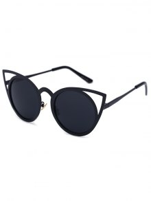 Cut Out Black Charming Cat Eye Sunglasses - Black