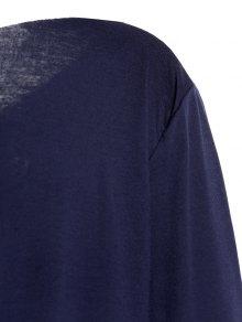 Slash Neck Letter Print T-Shirt