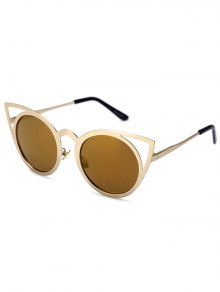 Cut Out Golden Cat Eye Sunglasses