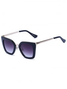 Matte Black Irregular Sunglasses - Black