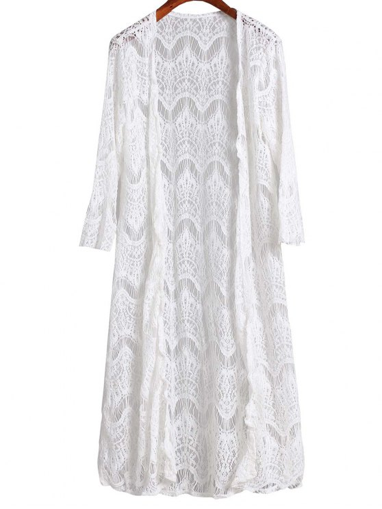 Malla 3/4 manga larga Cover Up - Blanco M