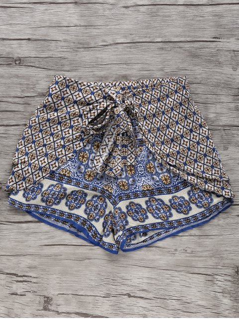 lady Bohemian Printed Wide Leg Shorts - COLORMIX XL Mobile