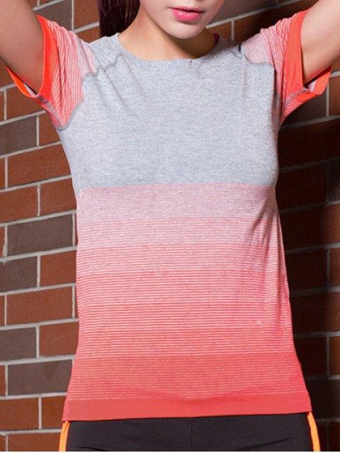 unique Gradient Color Stretchy T-Shirt - JACINTH S Mobile