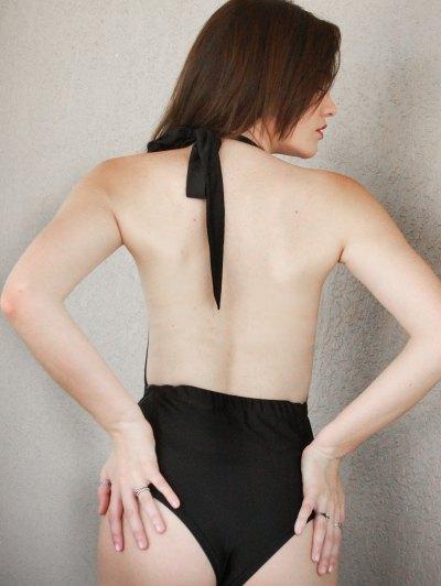 Lace Splicing Halter High Waist One-Piece Swimwear от Zaful.com INT
