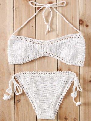 Crochet String Bikini Set - White