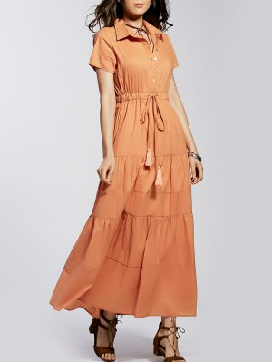 Maxi Shirt Dress - Orangepink