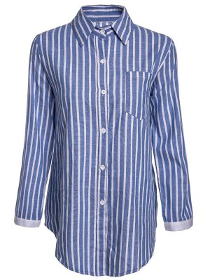 Striped Pocket Shirt - Blue