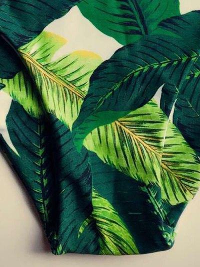 Leaf Print Halter Bikini Set от Zaful.com INT