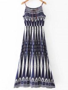 Geometric Print Strappy Dress