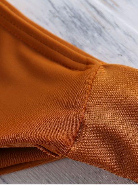 fashion Orange Halter Bikini - SWEET ORANGE S Mobile