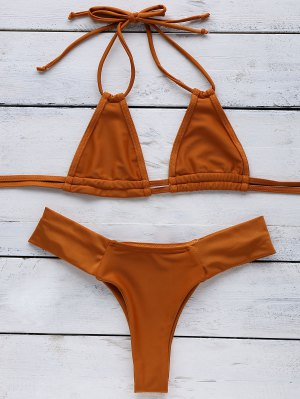 Orange Halter Bikini - Sweet Orange