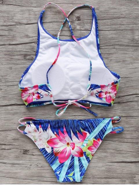sale High-Neck Tropical Bikini Set - COLORMIX M Mobile