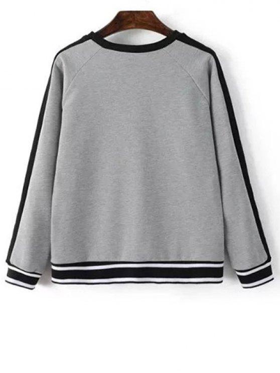 Zip Hem Gray Sweatshirt - GRAY S Mobile